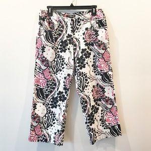 Willi Smith Floral Capri Pants